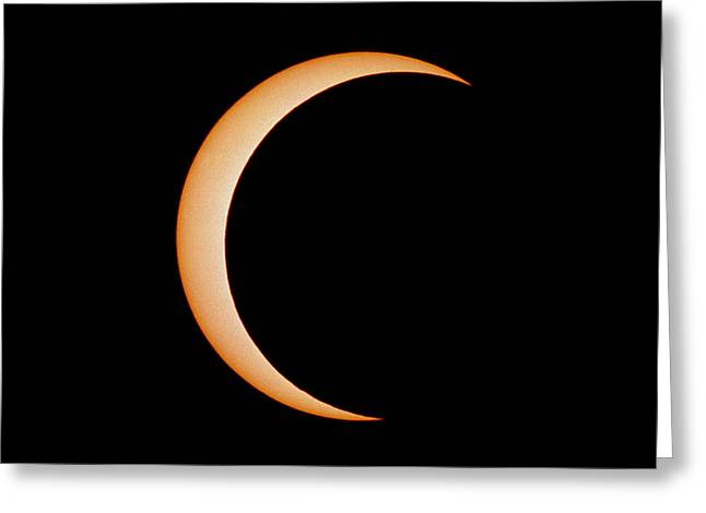 Solar Eclipse Greeting Cards - Partial Phase Of An Annular Eclipse (10/may/1994) Greeting Card by Dr Fred Espenak