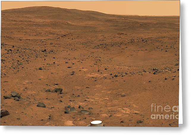 Astrogeology Greeting Cards - Partial Seminole Panorama Of Mars Greeting Card by Stocktrek Images