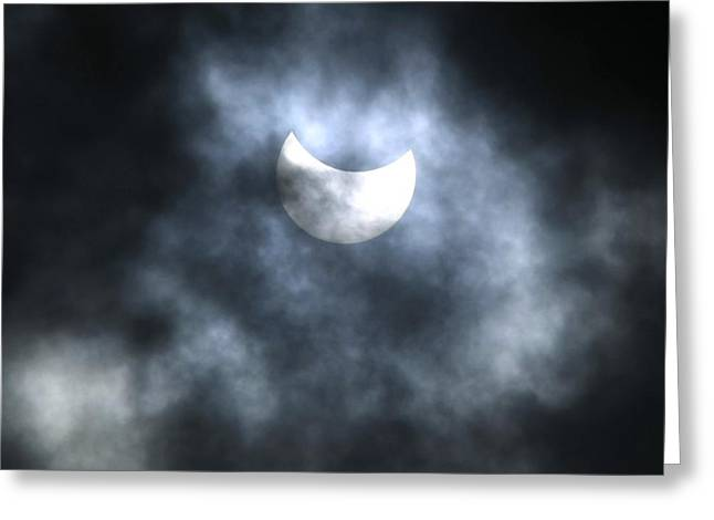 Solar Eclipse Greeting Cards - Partial Solar Eclipse, August 2008 Greeting Card by Ria Novosti