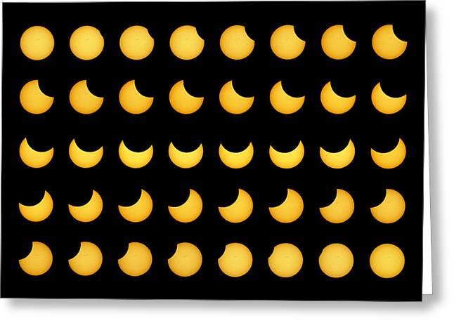 Solar Eclipse Greeting Cards - Partial Solar Eclipse Greeting Card by Dr Fred Espenak