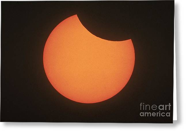 Solar Eclipse Greeting Cards - Partial Solar Eclipse Greeting Card by Science Source