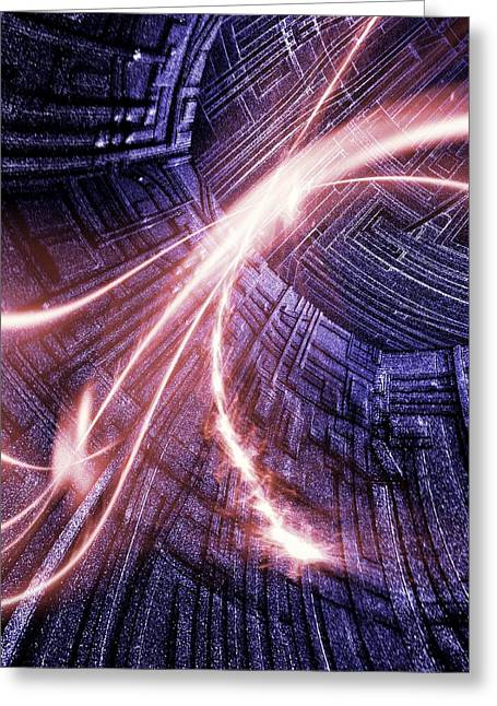 Digitally Created Greeting Cards - Particle Accelerator Greeting Card by Richard Kail