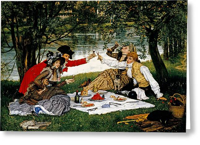 Decadence Greeting Cards - Partie Carree Greeting Card by James Jacques Joseph Tissot