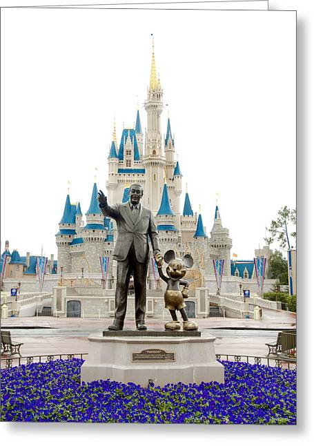 Magic Kingdom Photographs Greeting Cards - Partners Greeting Card by Greg Fortier
