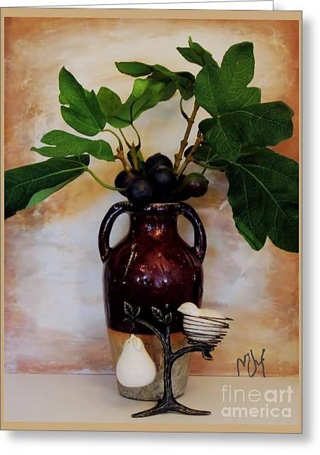Figs Digital Art Greeting Cards - Partridge In A Pear Tree Greeting Card by Marsha Heiken