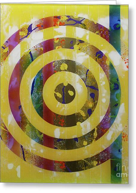 Mordecai Colodner Greeting Cards - PARTY- Bullseye 2 Greeting Card by Mordecai Colodner