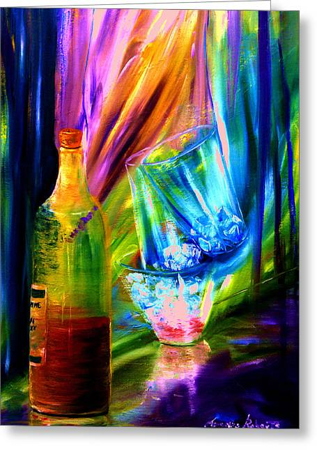 Festivities Paintings Greeting Cards - Party Greeting Card by Lorenzo Roberts