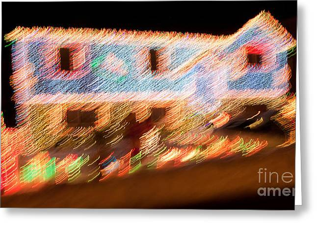 Christmas Cheer Greeting Cards - Party of Lights Greeting Card by Susan Candelario