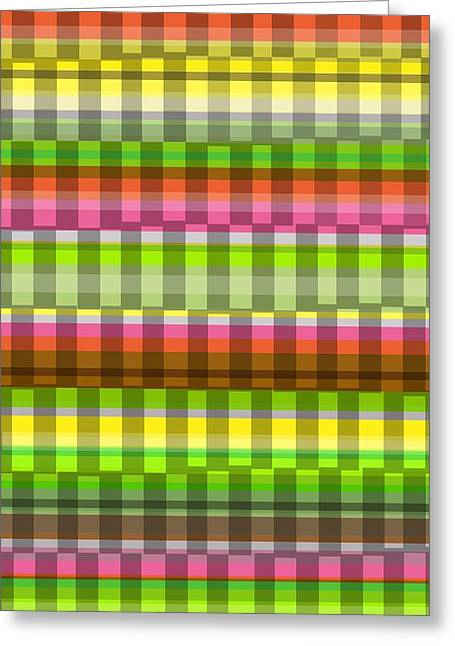 Bold Style Greeting Cards - Party Stripe Greeting Card by Louisa Knight