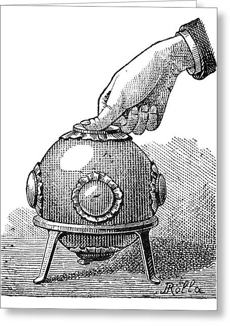 Pascal's Principle Demonstration, 1889 Greeting Card by