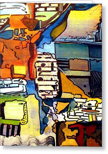 Layers Drawings Greeting Cards - Passages Greeting Card by Mindy Newman