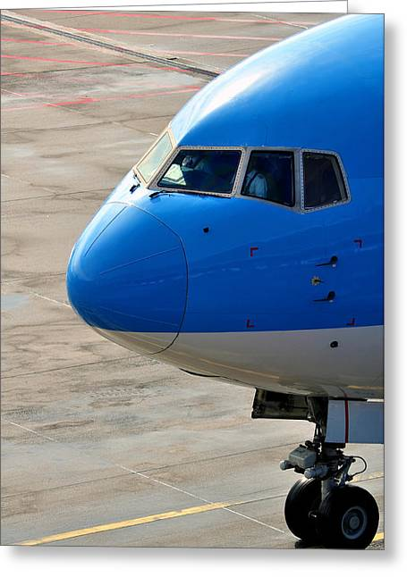 Passenger Airplanes Greeting Cards - Passenger airplane nose. Greeting Card by Fernando Barozza