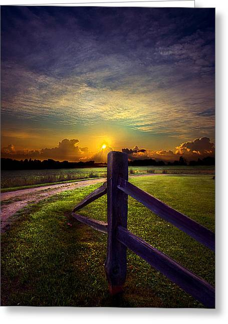 Cemetary Greeting Cards - Passing Greeting Card by Phil Koch