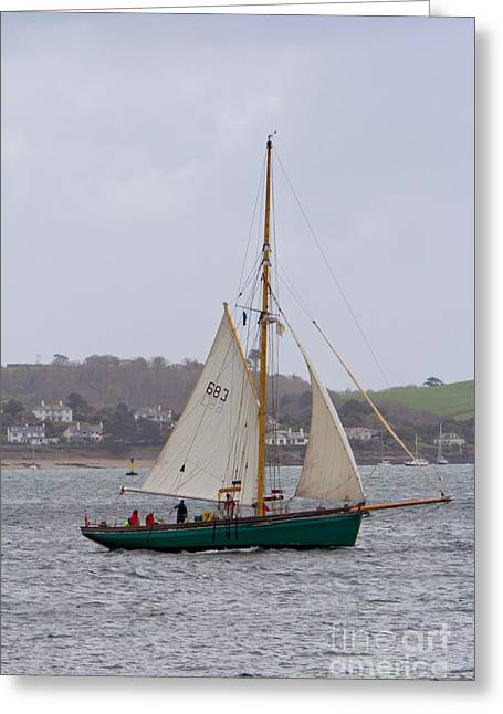 Ocean Sailing Greeting Cards - Passing St Mawes Greeting Card by Brian Roscorla