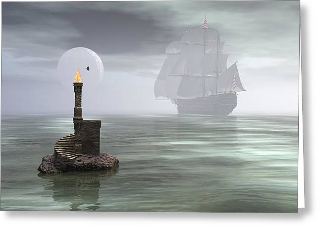 Passing The Pillar Greeting Card by Claude McCoy