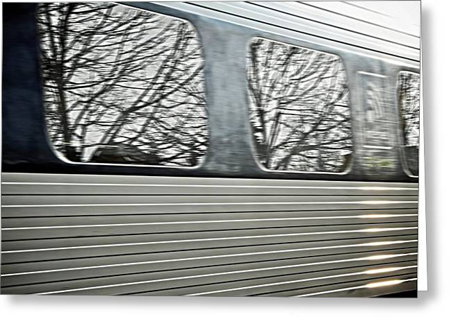 Railway Transportation Greeting Cards - Passing Through Greeting Card by Odd Jeppesen
