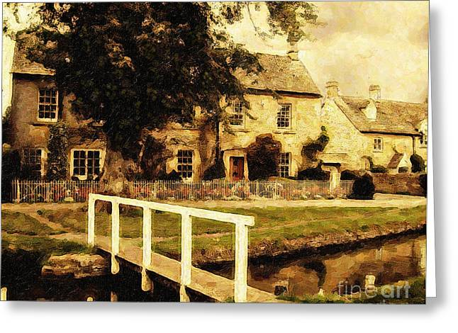 Lianne Schneider Fine Art Print Greeting Cards - Passing Through the Cotswolds Greeting Card by Lianne Schneider