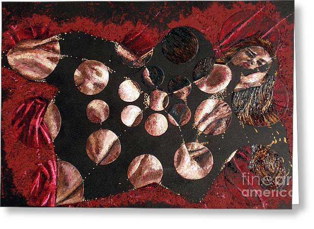 Pallet Knife Greeting Cards - Passion Explosion I Greeting Card by Tatjana Popovska