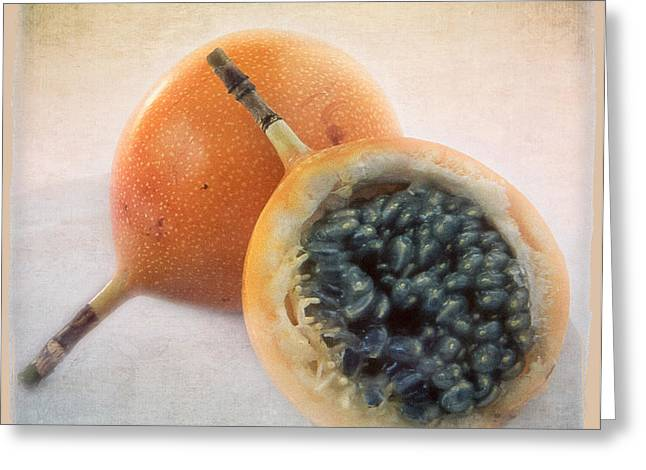 Passion Fruit Greeting Cards - Passion for food Greeting Card by Juan Carlos Lopez