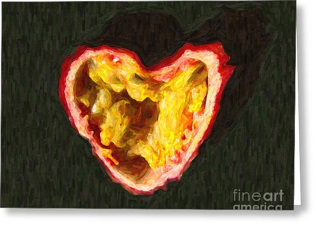 Passion Fruit Greeting Card by Wingsdomain Art and Photography