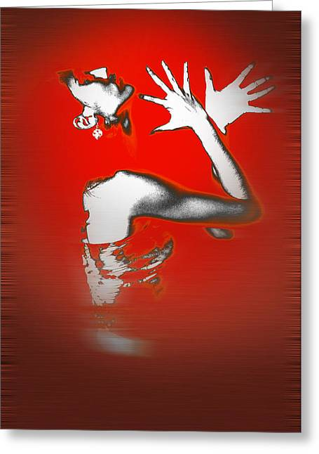 Party Digital Art Greeting Cards - Passion in Red Greeting Card by Naxart Studio