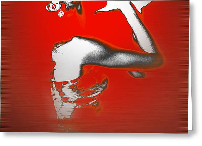 Passion in Red Greeting Card by Naxart Studio