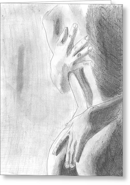 Sex Drawings Greeting Cards - Passion Greeting Card by Kristina Mladenova