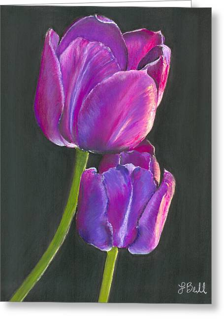 Violet Blue Drawings Greeting Cards - Passion  Greeting Card by Laura Bell