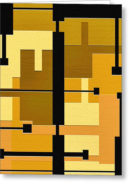 Geometrical Art Digital Art Greeting Cards - Passive Greeting Card by Ely Arsha