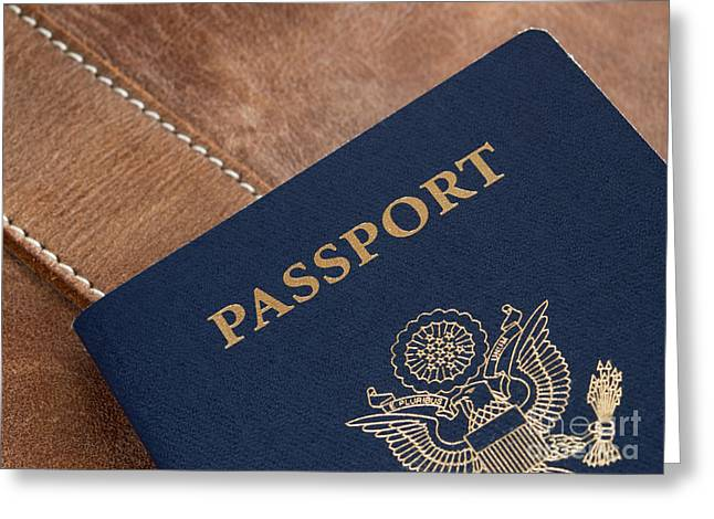 Citizens Photographs Greeting Cards - Passport Greeting Card by Blink Images