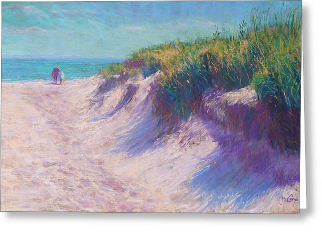 Green Pastels Greeting Cards - Past the Dunes Greeting Card by Michael Camp