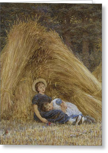 Female Artist Greeting Cards - Past Work Greeting Card by Helen Allingham