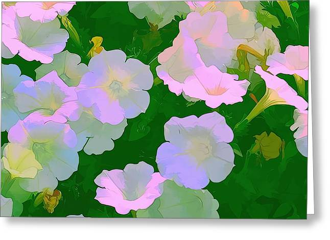 Artistic Photography Greeting Cards - Pastel flowers Greeting Card by Tom Prendergast