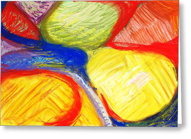 Abstractions Pastels Greeting Cards - Pastel Playing Fields Greeting Card by Kazuya Akimoto