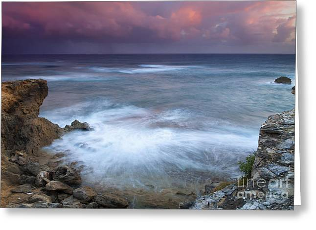 Lithified Greeting Cards - Pastel Storm Greeting Card by Mike  Dawson
