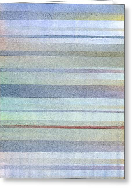 Shade Pastels Greeting Cards - Pastel Stripes Greeting Card by Hakon Soreide