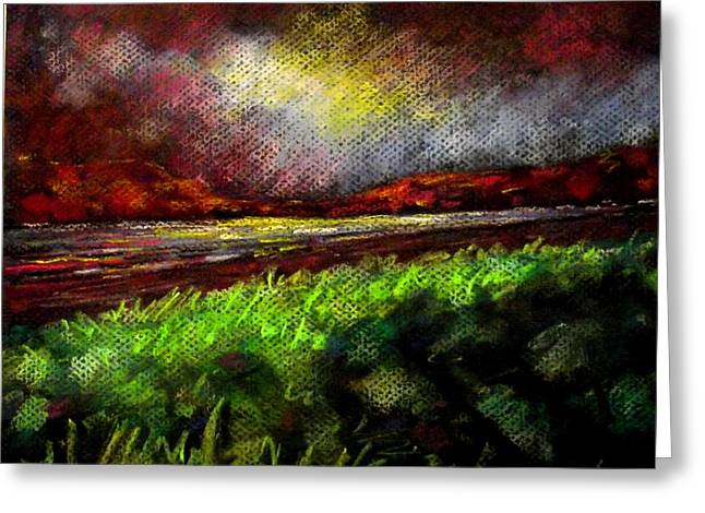 Pastel Sunset Greeting Card by John  Nolan