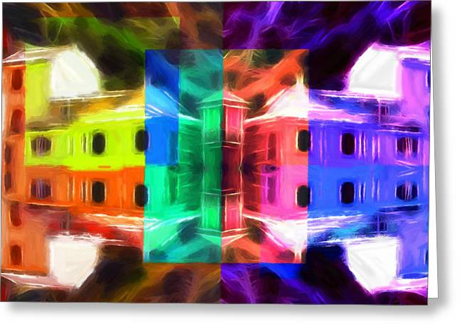 Color Colorful Pastels Greeting Cards - Pastel Windows Greeting Card by Stefan Kuhn