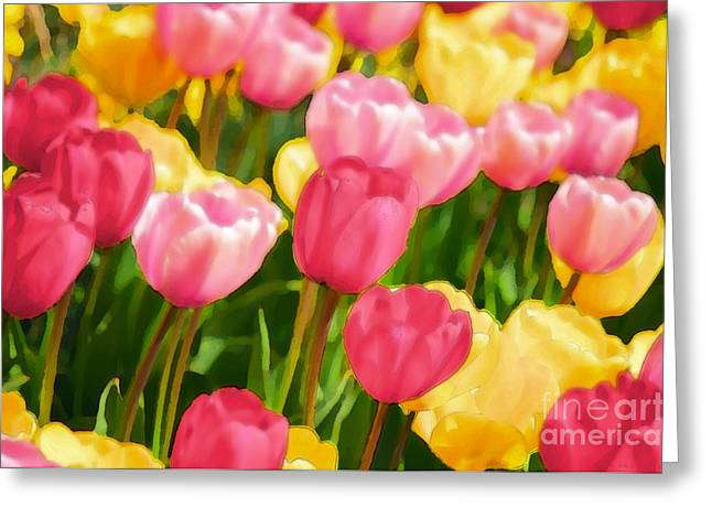 Bunt Greeting Cards - Pastell Impression Greeting Card by Angela Doelling AD DESIGN Photo and PhotoArt