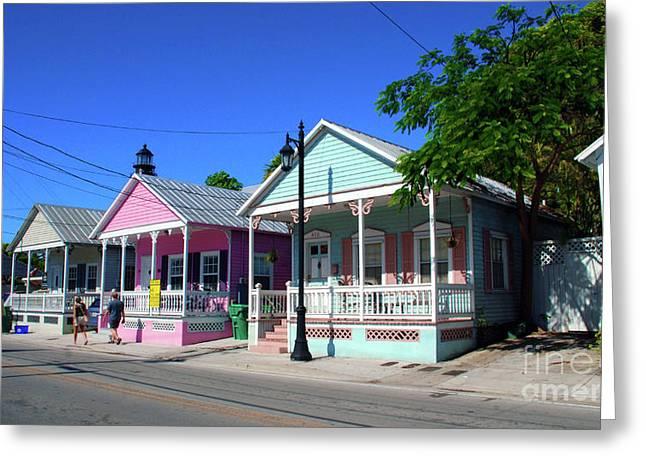 Telephone Wires Greeting Cards - Pastels of Key West Greeting Card by Susanne Van Hulst