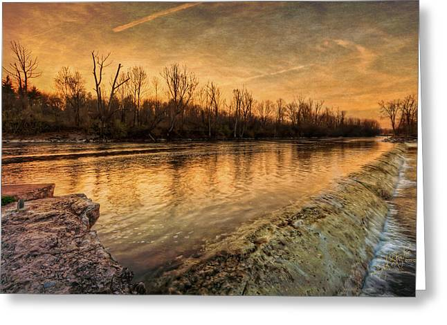 Fulton Greeting Cards - Pastels of the Canal Greeting Card by Everet Regal