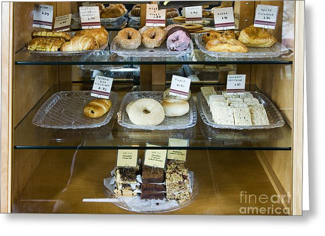 Pastry Items For Sale Greeting Card by Andersen Ross