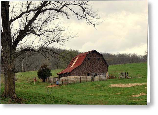 Pasture And Bar  Greeting Card by Marty Koch