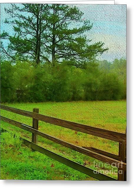 Pastureland Greeting Cards - Pastureland Greeting Card by Judi Bagwell