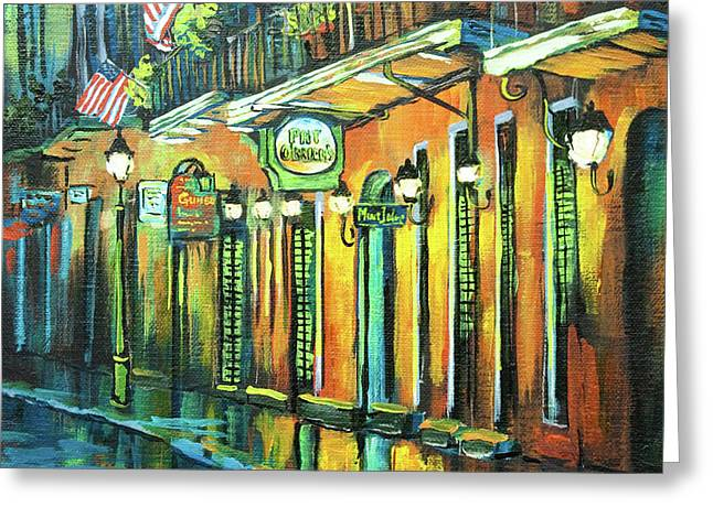 Acrylic Greeting Cards - Pat O Briens Greeting Card by Dianne Parks