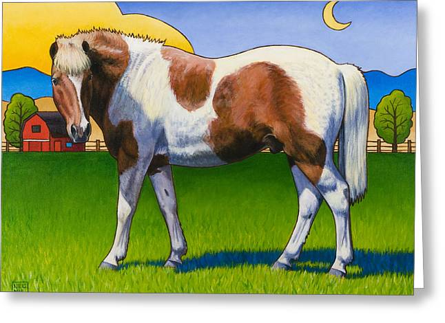 Painted Ponies Greeting Cards - Patches Greeting Card by Stacey Neumiller