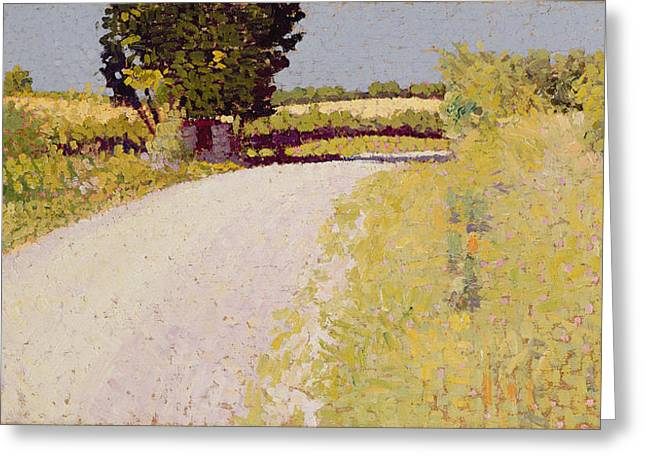 Lane Greeting Cards - Path in the Country Greeting Card by Charles Angrand