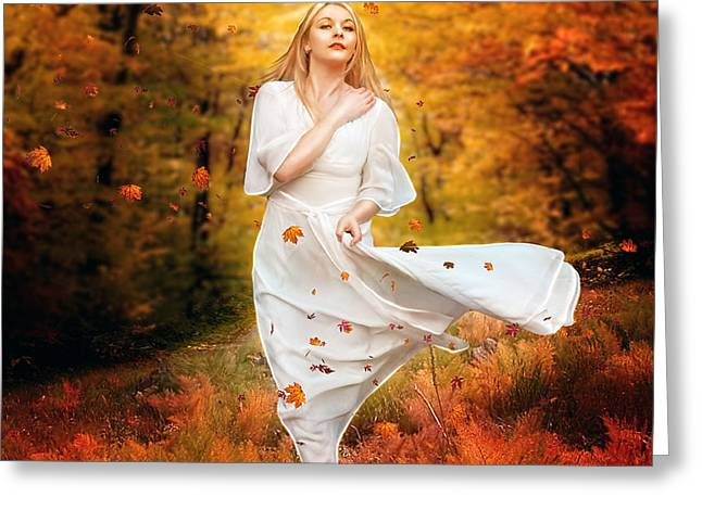 Path of Fall Greeting Card by Karen H