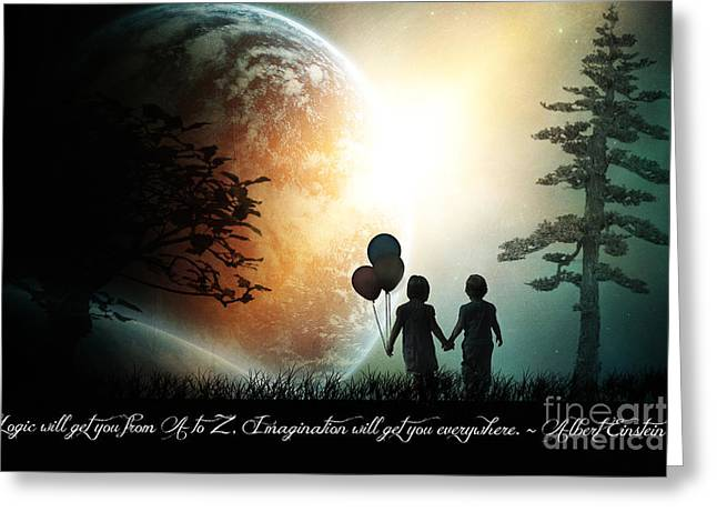 Magic Time Greeting Cards - Path of Imagination Greeting Card by Eugene James