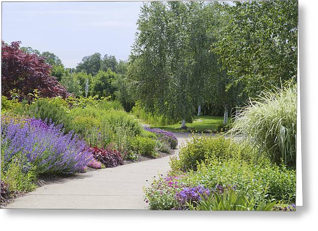 State Parks In Oregon Greeting Cards - Path Through Herbaceous Borders Greeting Card by Douglas Orton